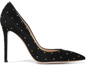 Gianvito Rossi 105 Studded Suede Pumps - Black