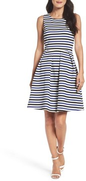 Felicity & Coco Women's Stripe Fit & Flare Dress