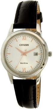 Citizen Ladies Straps Eco-Drive Silver Dial Ladies Watch FE1086-04A