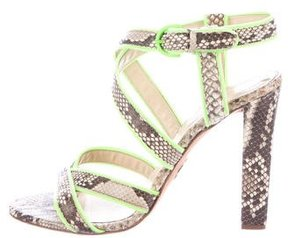 Roberto Cavalli Embossed Multistrap Sandals
