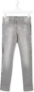 Karl Lagerfeld metallic stripe jeans