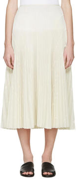 Cédric Charlier Cream Pleated Skirt