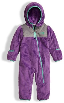 The North Face Infant Girl's 'Oso' Hooded Fleece Romper