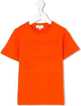 DKNY logo embroidered T-shirt