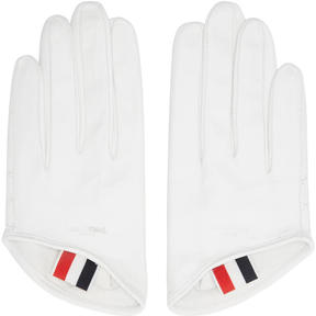 Thom Browne White Unlined Lowcut Gloves
