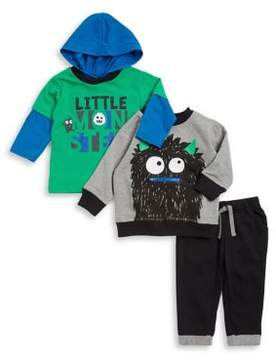 Nannette Baby Boy's Three-Piece Hoodie Tee, Sweatshirt and Jogger Pants Ser