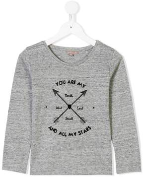 Emile et Ida arrow print longsleeved T-shirt