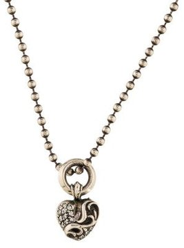 Chrome Hearts Diamond Heart Pendant Necklace