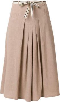 Bellerose ribbon detail pleated skirt