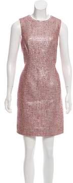 Carmen Marc Valvo Metallic Mini Dress