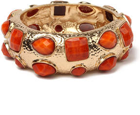 Amrita Singh Coral Crystal & Goldtone Shelter Island Cuff