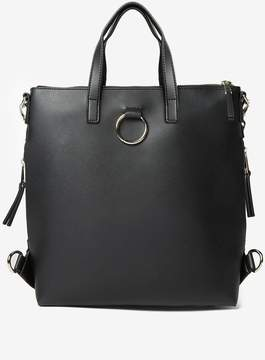 Dorothy Perkins Black Zip Side Backpack