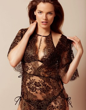 Agent Provocateur Gayle Gown Black And Gold