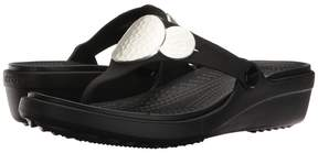 Crocs Sanrah Embellished Wedge Flip Women's Wedge Shoes