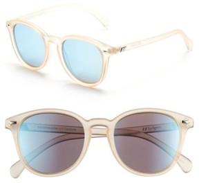 Le Specs Women's 'Bandwagon' 51Mm Sunglasses - Raw Sugar/ Ice Blue Mirror