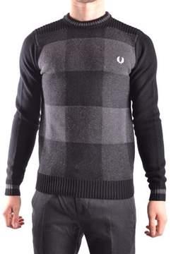 Fred Perry Men's Grey/black Wool Sweatshirt.
