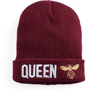 Mudd Women's Embroidered Queen Bee Beanie