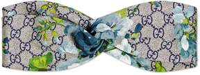 Gucci GG Blooms print silk headband