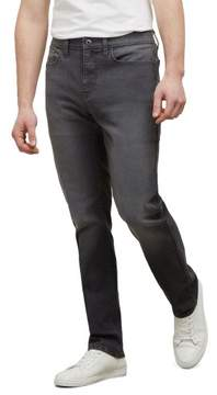 Kenneth Cole New York Reaction Kenneth Cole Grey Stretch Fit Straight Leg Jean - Men's