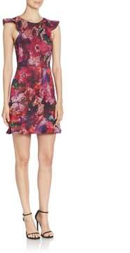 ABS by Allen Schwartz Sleeveless Floral Printed Dress