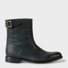Paul Smith Women's Navy Leather 'Thunder' Boots