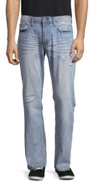 Buffalo David Bitton Driven Straight Bleached Denim Jeans