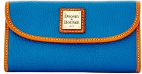 Dooney & Bourke Pebble Grain Continental Clutch Wallet - BLUE - STYLE