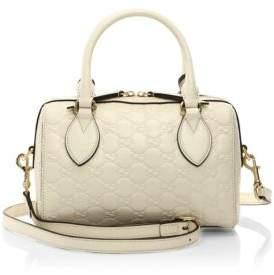 Gucci Signature Mini Leather Satchel - SOFT WHITE - STYLE