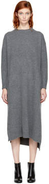 Enfold Grey Wool Straight Dress