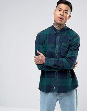 Element Buffalo Flannel Shirt in Green Check