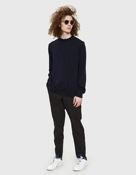 Sacai Classic Knit Pullover in Navy