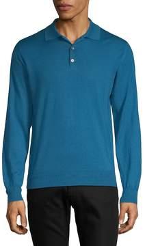Brioni Men's Cashmere Sik Polo Sweater