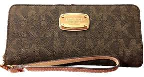 Michael Kors Jet Set Travel Signature Continental Wallet - Brown - BROWN - STYLE