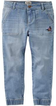Osh Kosh Girls 4-12 Butterfly Denim Jogger Pants