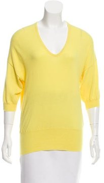 Allude Short Sleeve Knit Top