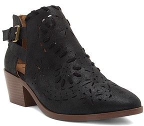 Qupid Black Montana Bootie - Women