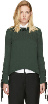 Fendi Green Cashmere Ribbon Sweater