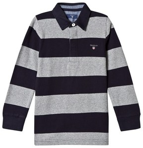 Gant Grey and Navy Bar Stripe Rugby