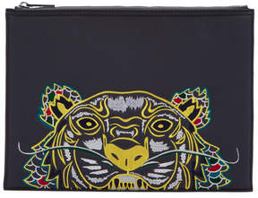 Kenzo Grey Limited Edition Dragon Tiger A4 Pouch