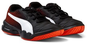 Puma Black and Red Veloz Indoor Trainers