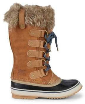Sorel Joan of Arctic Waterproof Suede Faux Fur Boots