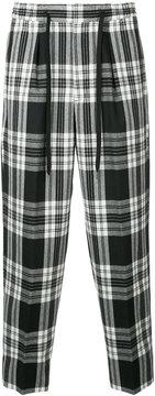 Monkey Time Plaid Tie-Waist Trousers