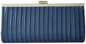 Jessica McClintock Laura Pleated Satin Framed Clutch Clutch Handbags
