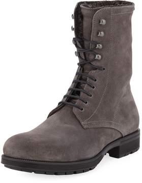 Aquatalia Hayden Fur-Lined Boot, Gray