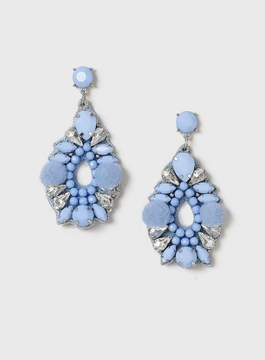 Dorothy Perkins Blue Bead And Pom Earrings