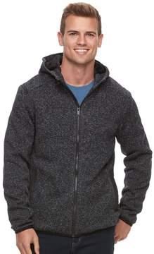Apt. 9 Men's Marled Sherpa-Lined Sweater Fleece Hooded Jacket