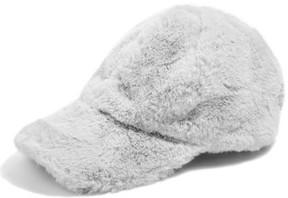 Topshop Women's Faux Fur Baseball Cap - Grey