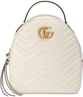 Gucci GG Marmont quilted leather backpack - WHITE CHEVRON LEATHER - STYLE