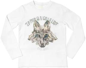 Zadig & Voltaire Wolf Printed Cotton Jersey T-Shirt
