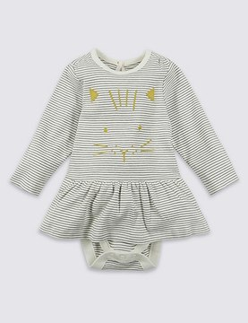 Marks and Spencer Pure Cotton Cat Face Body Dress
